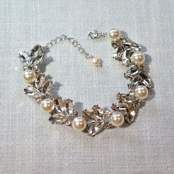 Your Choice Pearl Colour  Classic Handmade Pearl & Crystal