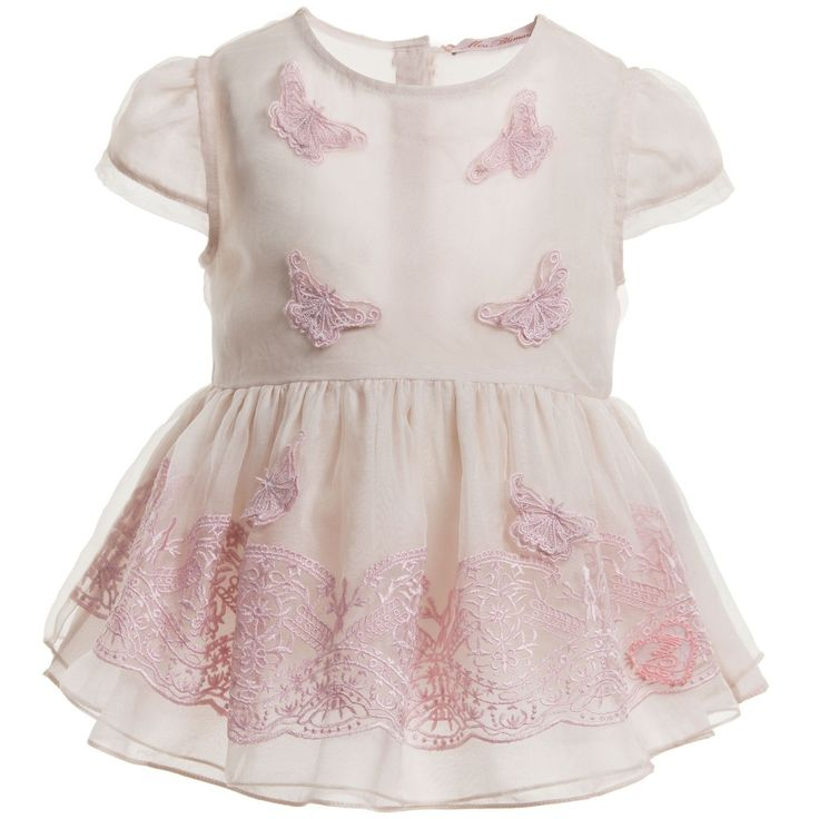 Miss Blumarine Pale Pink Silk Embroidered Blouse at Childrensalon.com