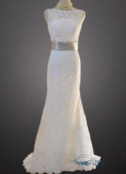 Wedding Dress Elegant Sheath Mermaid Bridal Gown by chiffondresses, $170.00