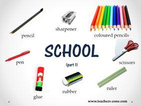 School supplies posters