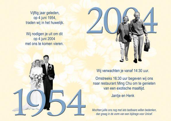 uitnodigingen 50e huwelijksverjaardag - Bing Afbeeldingen