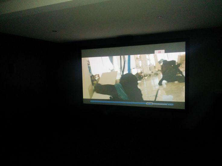 "133"" Fixed Frame Home Theatre screen installed by Albury Wodonga Macktronix"