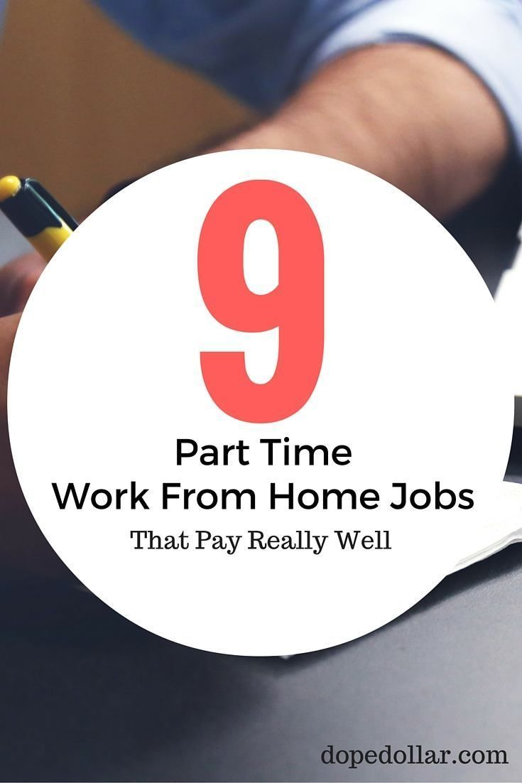 9 Legitimate Part Time Work From Home Jobs