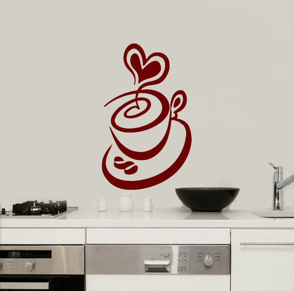 Best Coffee Vinyl Images On Pinterest Vinyls Coffee Shops - Custom vinyl wall decals coffee
