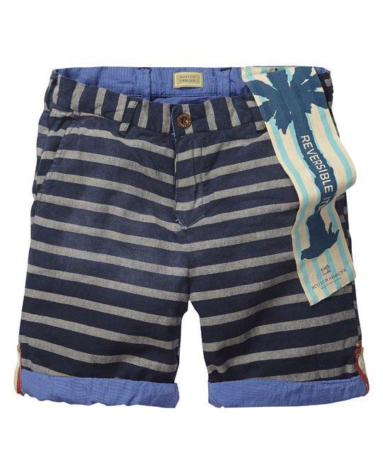 Reversible shorts   Short pants   Boys Clothing at Scotch & Soda