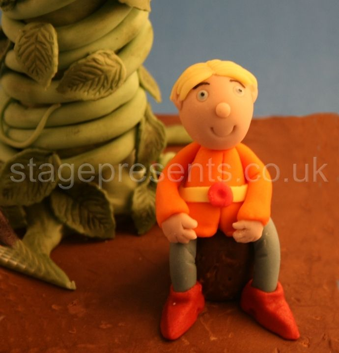 Fondant icing Jack with his beanstalk!