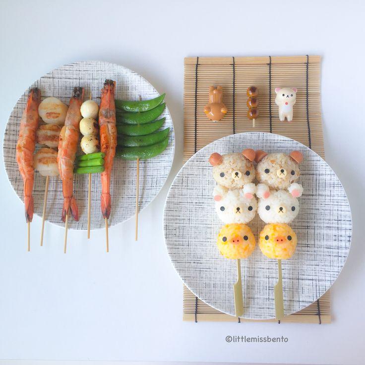 Rilakkuma Yakitori Foodart tutorial