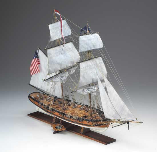 Ships Canada Us Wide Wood Sign: Corel Eagle American Brig 1812 Wooden 1:85 Scale Model