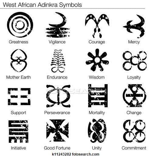 Westen Afrikaner Adinkra Symbole Clipart Runes Pinterest