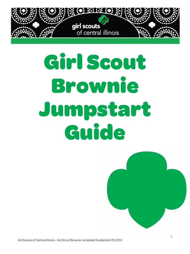 Central Illinois Girl Scout Brownie Jumpstart Guide Cookies Mint Chocolate