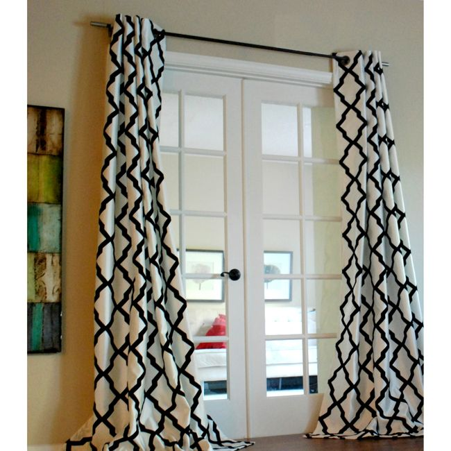 ... Curtain Panel   Graphic Yet Subtle, This Trellis Panels Offer A Touch  Of A Modern Statement To Your Windows. Repetitive Black Flock Patterns On A  Crisp ... Part 30