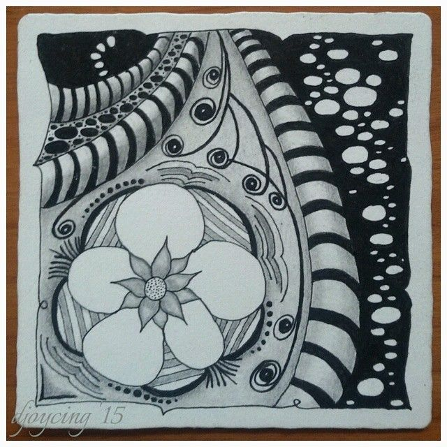 #zentangle my first :-)
