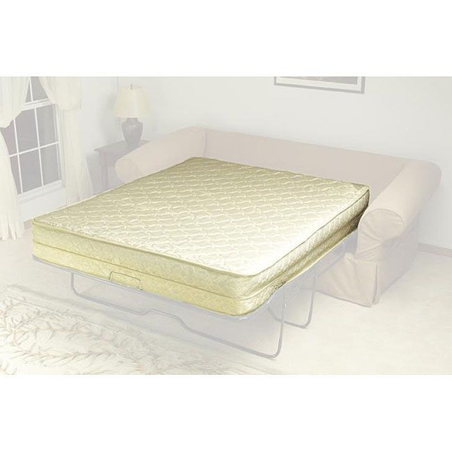 This AirDream is an inflatable sofa bed mattress. It has been designed for sleeper sofas, but it can also be used as a simple and traditional guest bed. The mattress is 11 inches thick. It inflates in under 25 seconds and deflates in less.