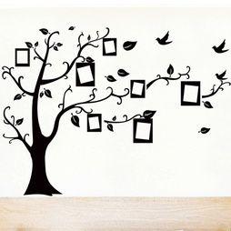 Väggdekor Träd Slingrande Grenar med fotoramar