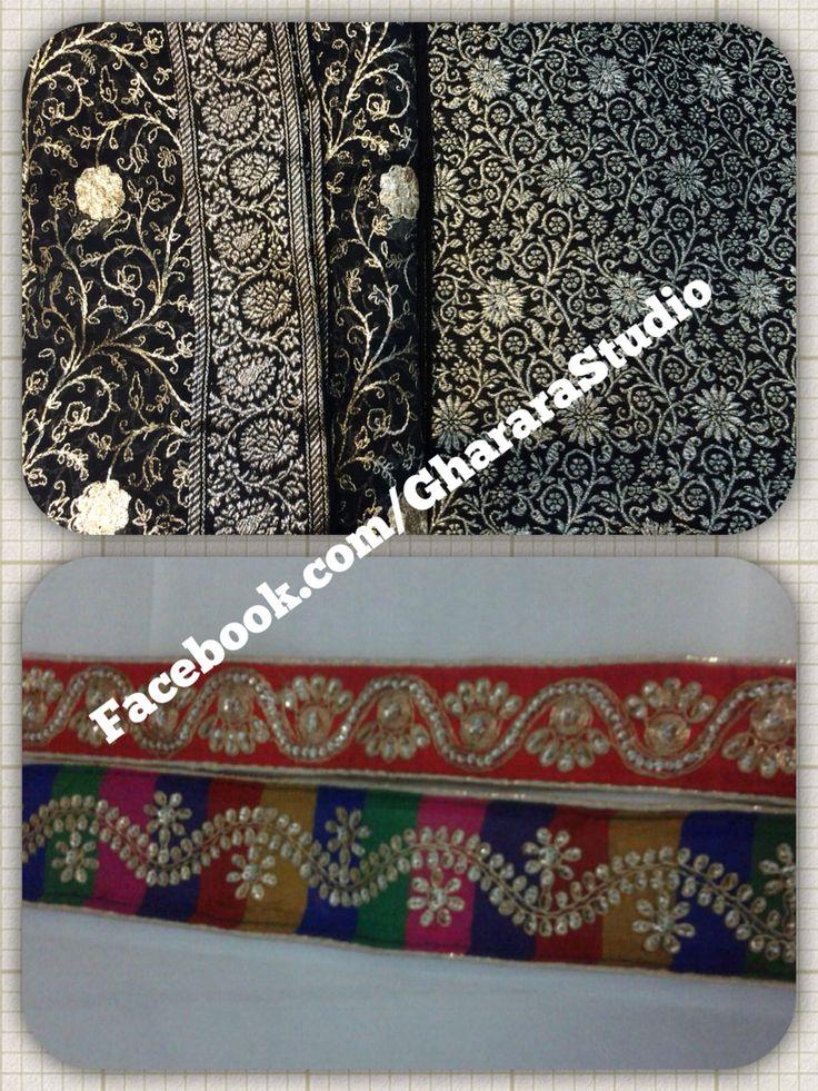 Black kamkhwab Gharara.. Add some colour to the laces and your gorgeous Gharara is ready to flaunt. Mail, whatsapp or call to discuss however way you like yor Gharara.  #gharara #GhararaStudio #gharara4u #ghararadesign #weddinggharara #bridalgharara #partydress #weddingdresses #lehenga #kamkhwab #black #laces #orderonline #customisedgharara