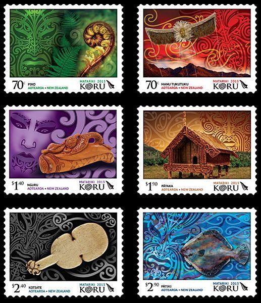 2013 stamps | Matariki 2013 – Koru stamps from New Zealand | Stampnews.com