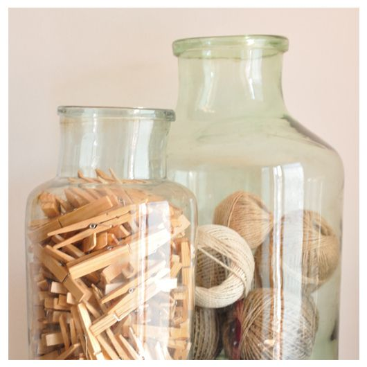 Really need to get some big glass vases/bottles. And then some collections to put in them...