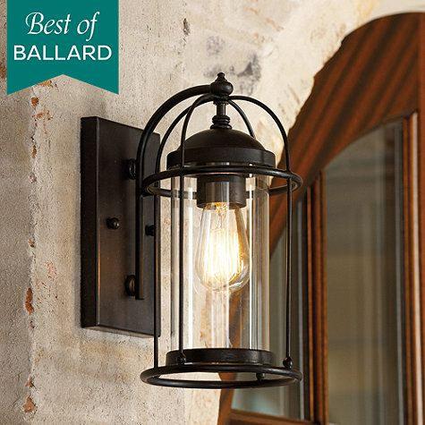 The caged design of our Verano Outdoor Wall Sconce is nautically inspired with a modern flair. Solid iron frame surrounds a light-filled cylinder of glass.