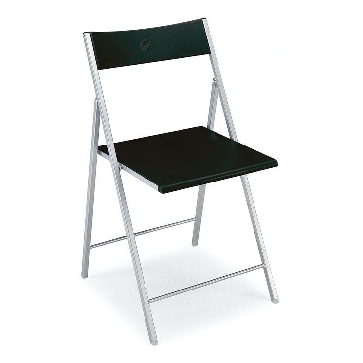 € 36,50 #sconto 50% #sedia #pieghevole #salvaspazio mod. GRETA in metallo e polipropilene colore #nero. Pratica e leggera. In #offerta prezzo su #chairsoutlet factory #store #arredamento. Comprala adesso su www.chairsoutlet.com