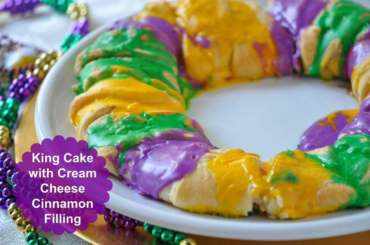How to Make Easy Mardi Gras King Cake Recipe - with crescent rolls