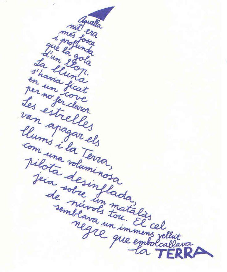 La lluna, caligrama de Miquel Obiols