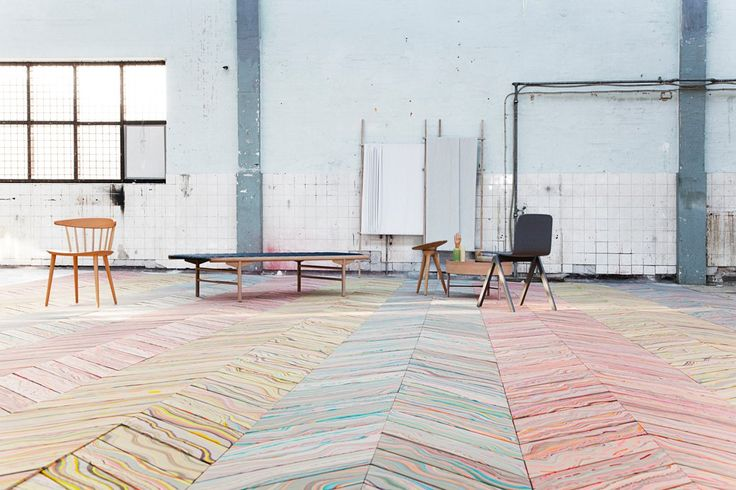 Marbled Wood Flooring By Snedker Studio - decor8