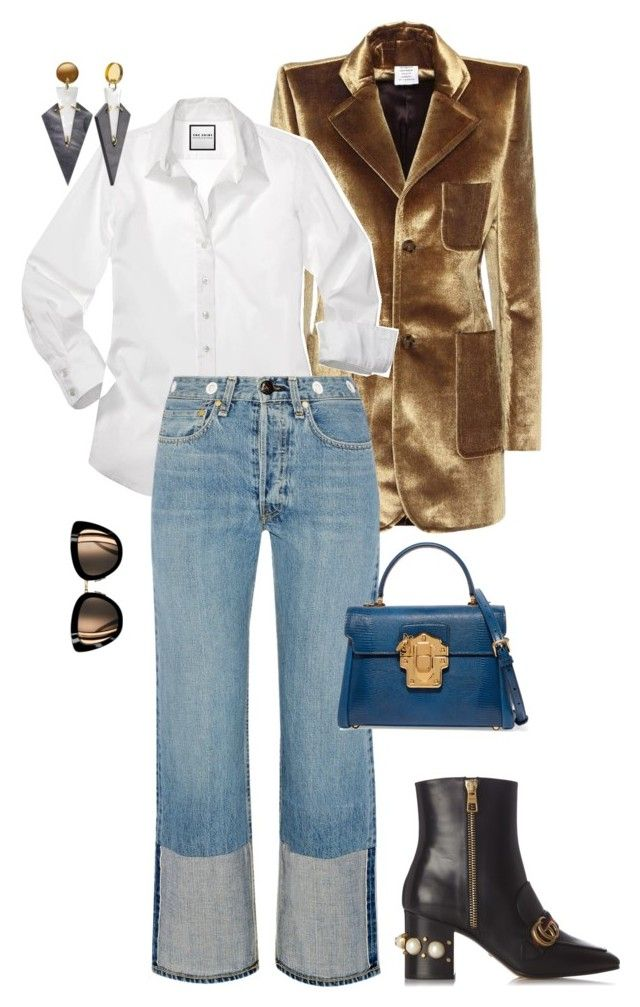 """""""White shirt"""" by trend-anonymous on Polyvore featuring Vetements, Gucci, rag & bone and Dolce&Gabbana"""
