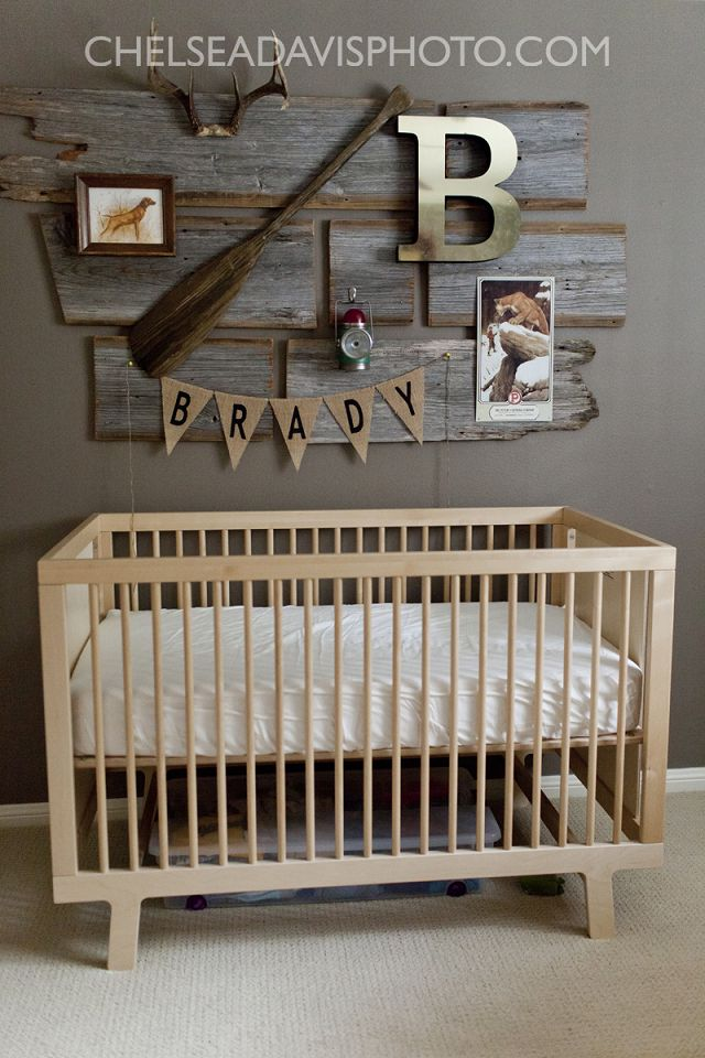 Vintage Hunting Nursery Designed By Ashley from This Country Fried Life feaured on Fawn Over Baby #nursery #rustic