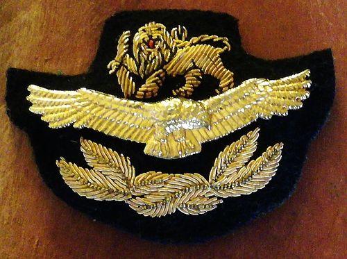 Rare & Original, Bullion Wire & Metal Rhodesian Airforce Pilot Badge.