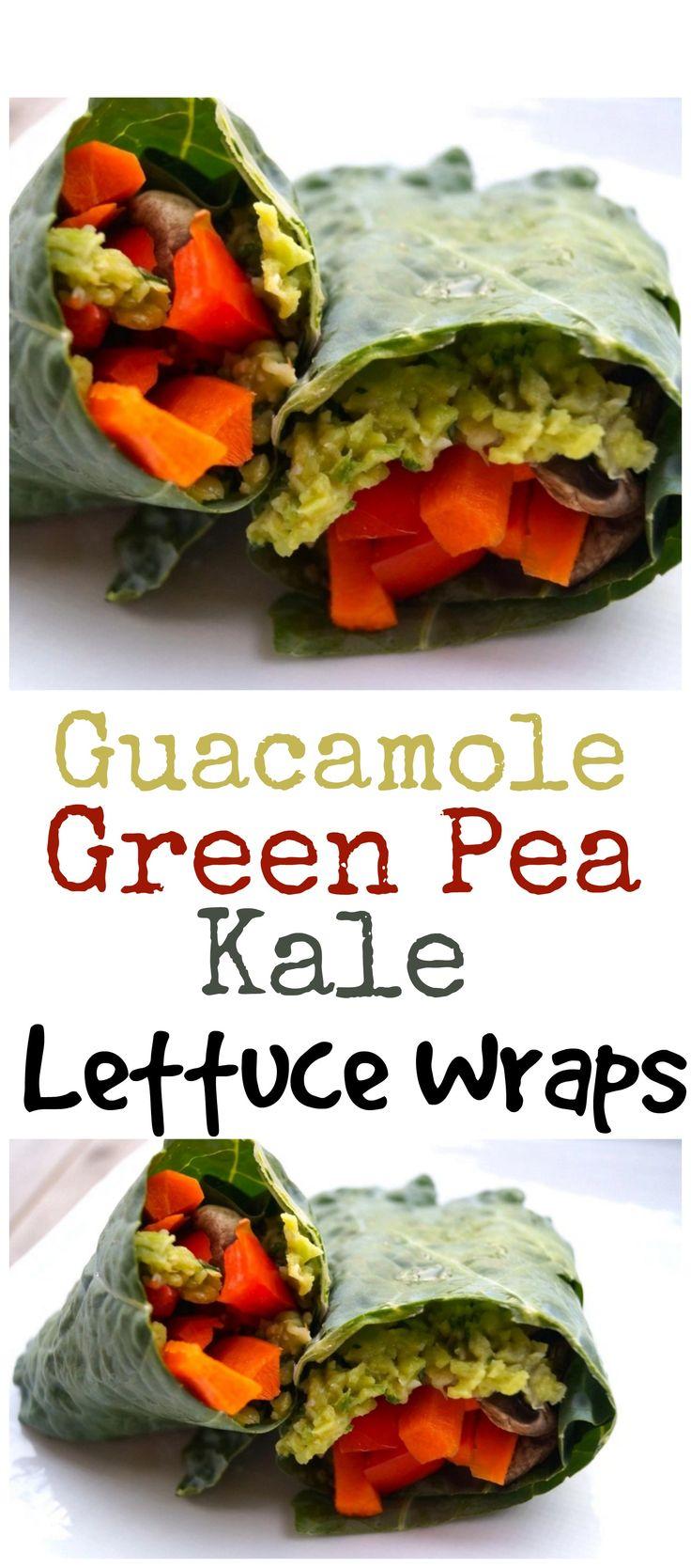 http://www.furtherfood.com/recipe/easy-guacamole-green-pea-kale-lettuce-wraps/