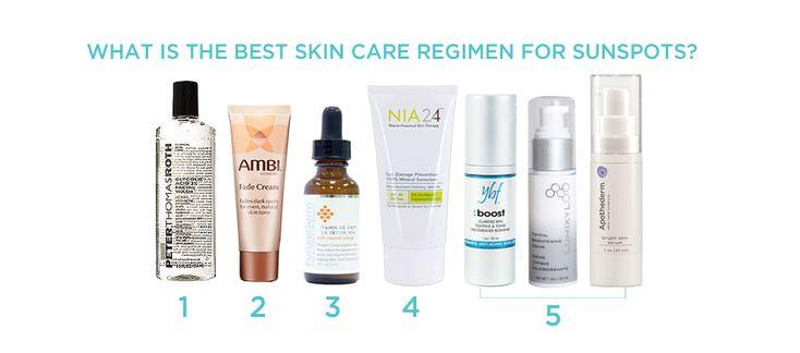 Best Skin Care Regimen For Sunspots