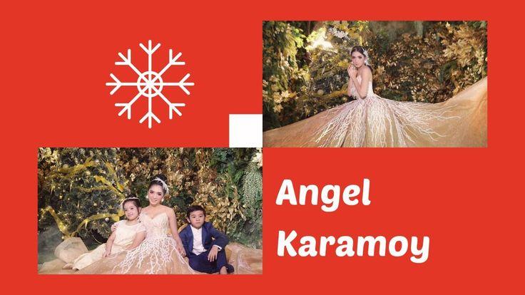 JADI 'PERI EMAS' CANTIK, ANGEL KARAMOY FOTO BARENG 2 ANAKNYA