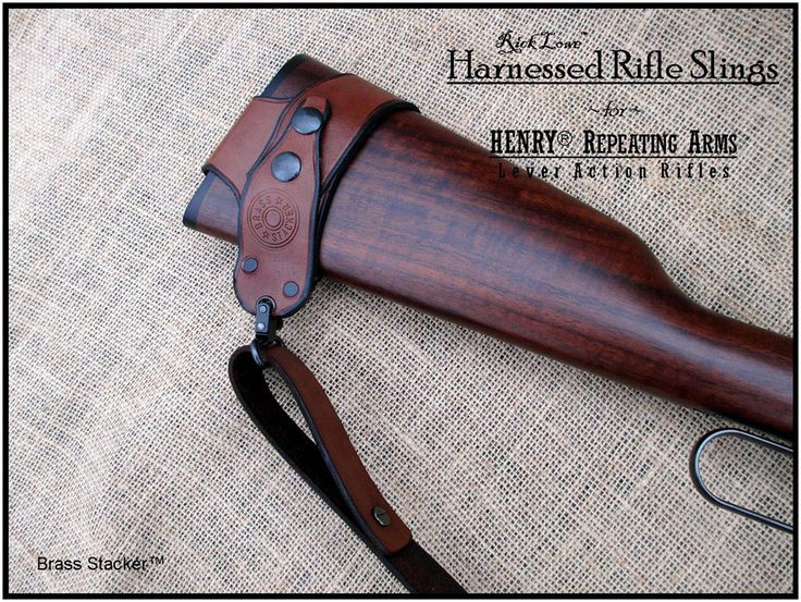Harnessed No Drill Rifle Sling for Henry Lever Action Rifles :: Henry® Platform Products :: Brass Stacker™