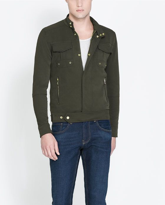 JACKET WITH GOLD BUTTONS - Coats and Jackets - Man   ZARA United States