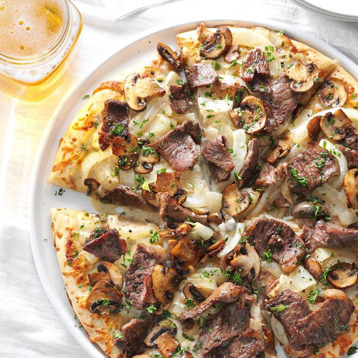 Steak & Blue Cheese Pizza
