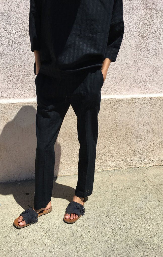 Grid Drawstring Pant with pockets