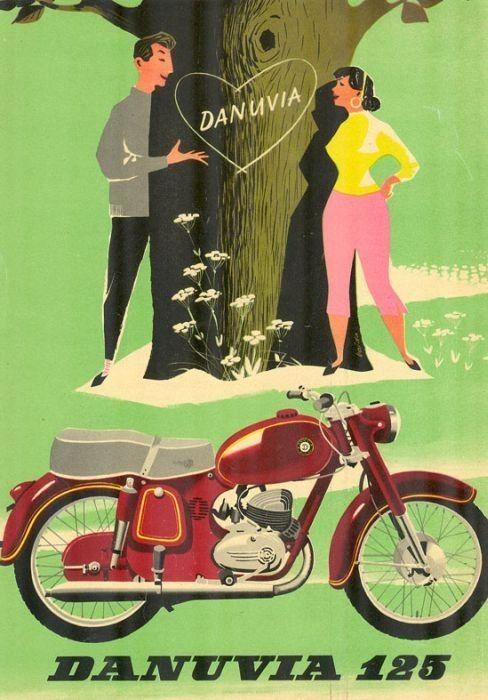 Vajda Lajos (graf.) - Danuvia 125 [Danuvia-Csepel 125-ös motorkerékpár] - Múzeum Antikvárium