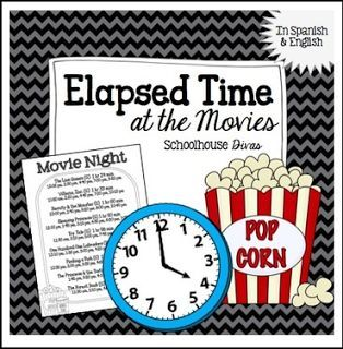 "FREE MATH LESSON - ""Elapsed Time FREE Activity: At the Movies! English & Spanish (3rd - 6th)"" - Go to The Best of Teacher Entrepreneurs for this and hundreds of free lessons. 3rd - 6th Grade    #FreeLesson    #Math    http://www.thebestofteacherentrepreneurs.org/2016/03/free-math-lesson-elapsed-time-free.html"