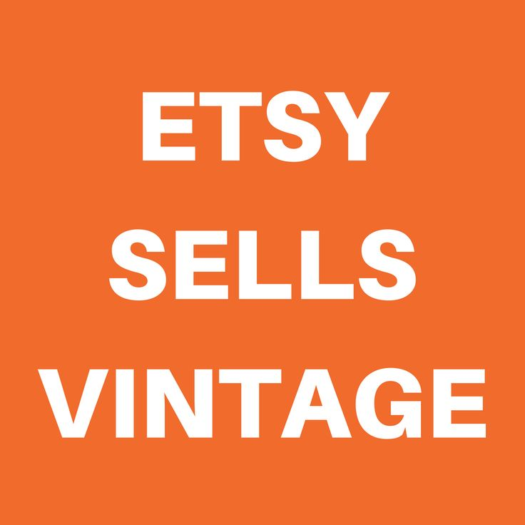 It's not just handmade and supplies that are sold on Etsy. There are all kinds of knowledgeable sellers selling wonderful vintage items. Head to Etsy to see what's available!