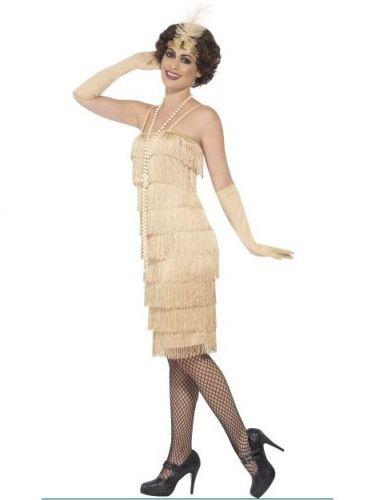 Disfraz charlestón beige mujer-1