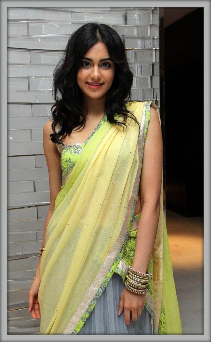Adah sharma hd photos in saree www.celebrityhdshots.blogspot.in