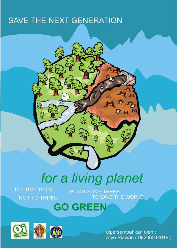 Go green - poster Ideas for NIFT, NID, CEED Design Entrance Exam