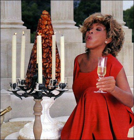 Tina Turner in red