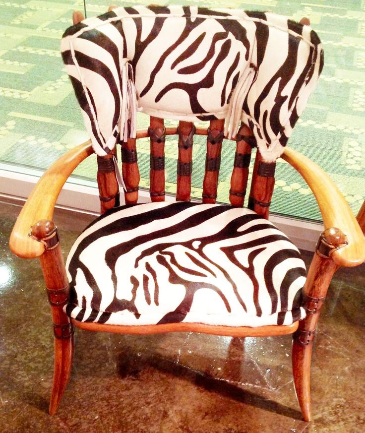 Palm Wood Zebra Chair by The Rustic Gallery of San Antonio #rustic #livingroom #chair #wood #sanantonio