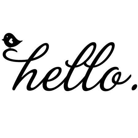 Hello Birdie Wall Quotes™ Decal // for the front door!