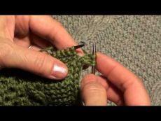 Вязание спицами - Уроки мастерства спицами - Обработка края изделия методом i-cord (полым шнуром). Видео-МК