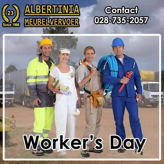 Today we celebrate Workers Day! It's a celebration of all the workers out there - a safe work environment brings a safe worker! Enjoy your public holiday! #WorkersDay #workers