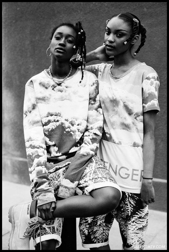 Sienna and Tiara by Jeff Hahn http://fashionbombdaily.com/2013/05/01/snapshot-sienna-and-tiara-by-jeff-hahn-for-mtv-uk/