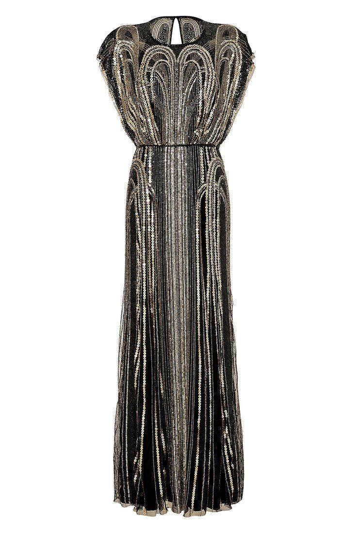 Black and gold wedding dress 20 Beautiful Black Wedding Dresses for the Bold Bride