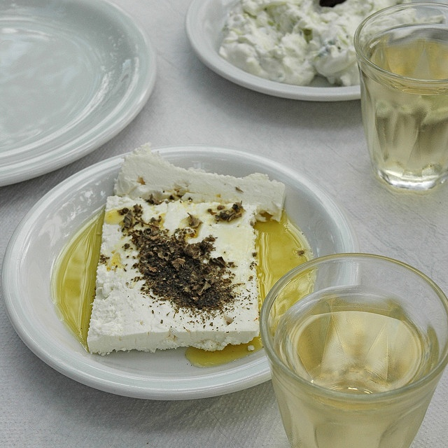 Great way to serve Feta cheese: made primarily from sheep's milk or a mixture of sheep and goat milk has a unique distinctive salty bite, a fresh acidity of taste, and a rich aroma. #greece
